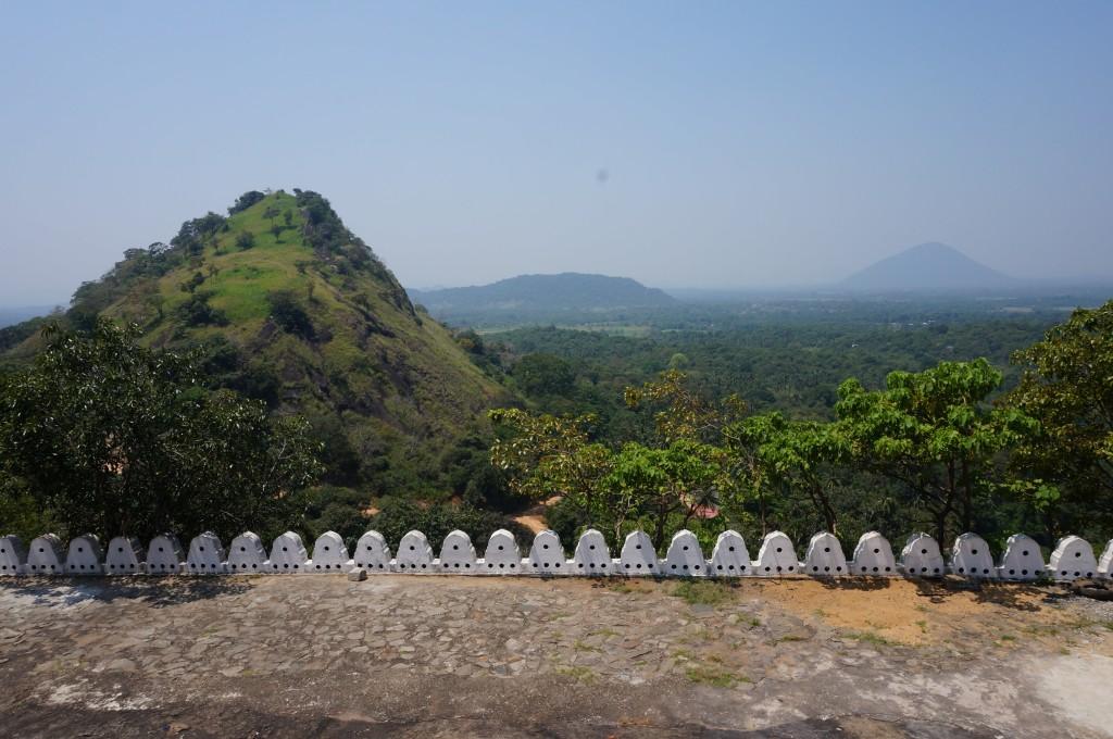 Paysage dans les ruines de dambulla