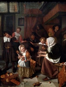 The Feast of Saint Nicholas by Jan Steen (1665)