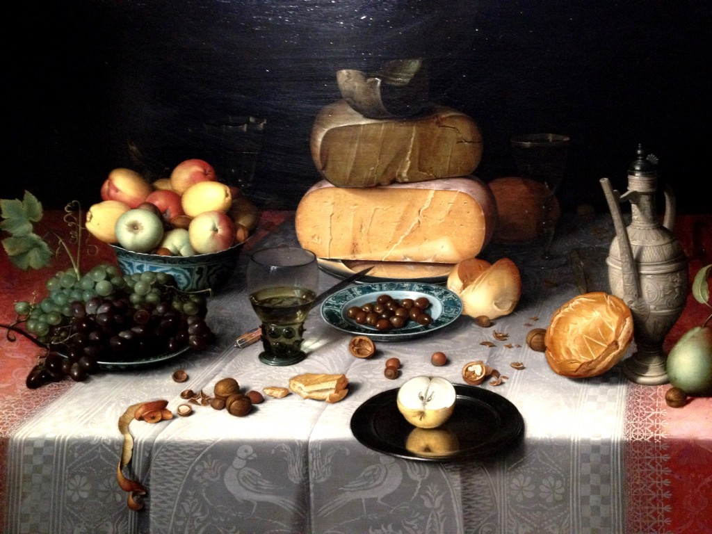 Still life with cheese - Van Dijck (1615)