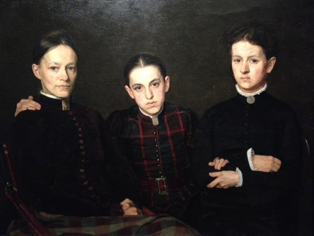 Portrait de Cornelia, Clara et Johanna Veth, 1885