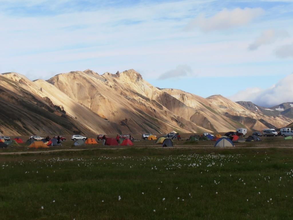 Campement à landmannalaugar