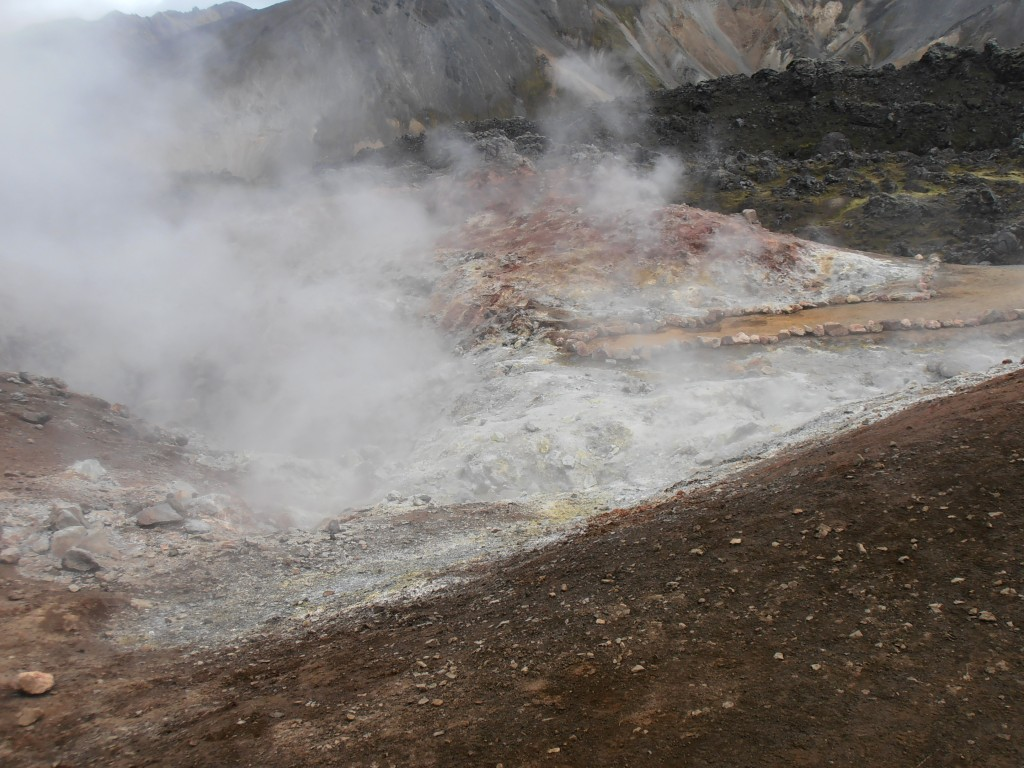 Fumerolles islande landmannalaugar