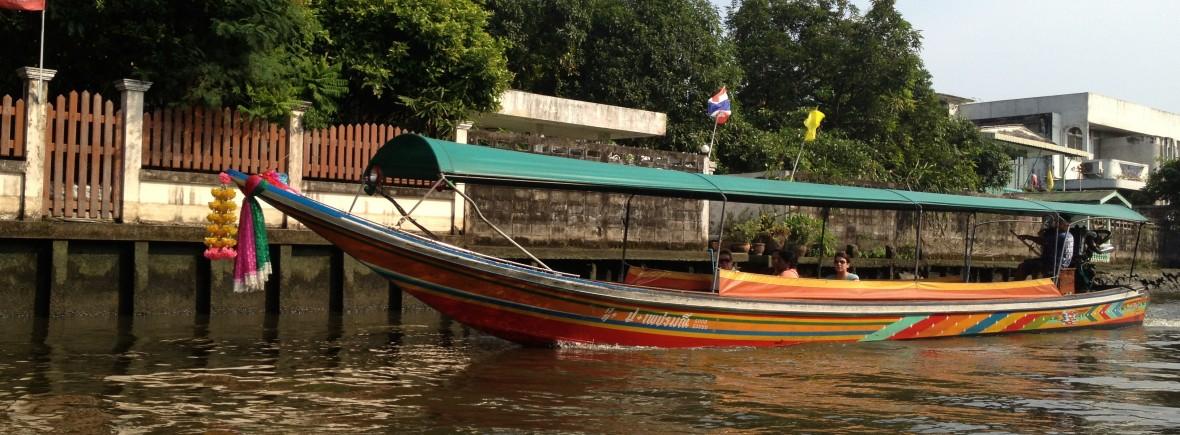 balade sur les khlongs Bangkok Thaïlande