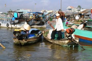 Marché flottant Delta du Mekong