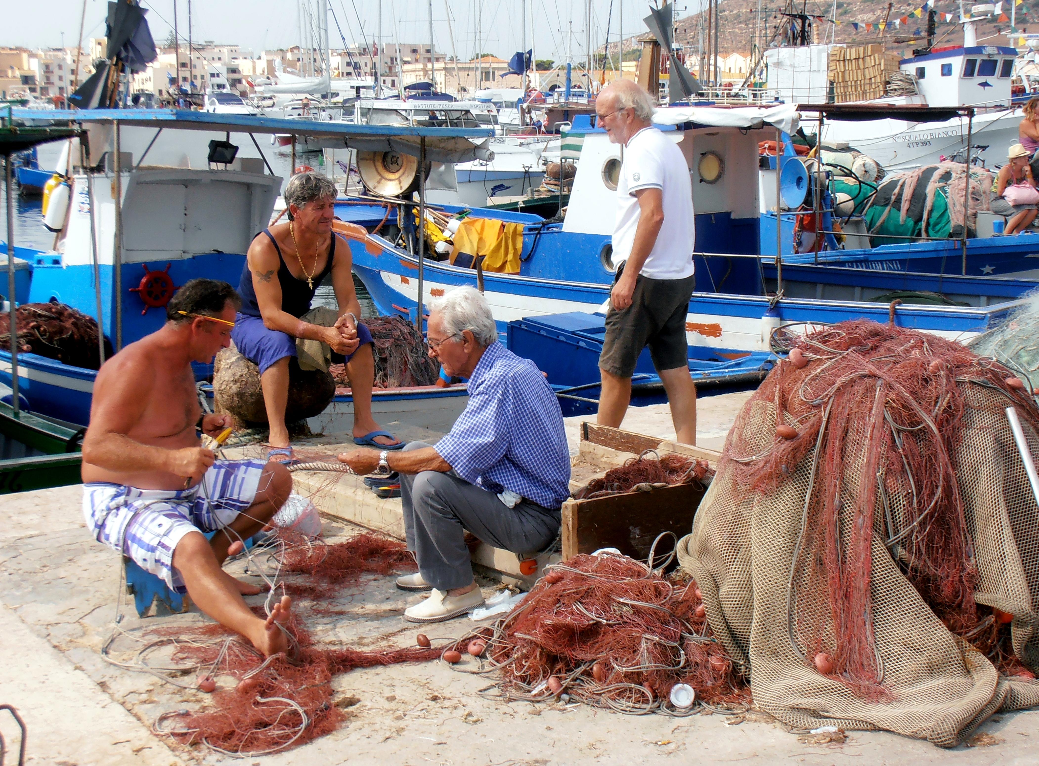 Port de pêche de l'île de Favignagna Sicile