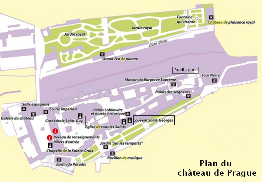 plan chateau de Prague