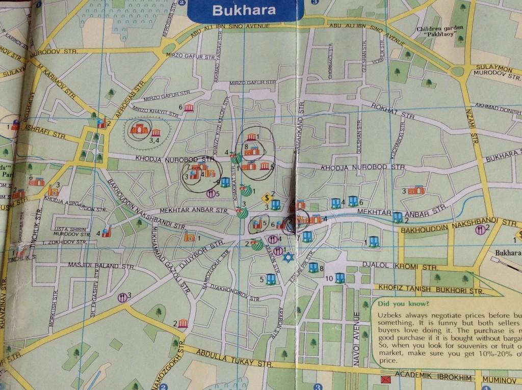 Plan Boukhara