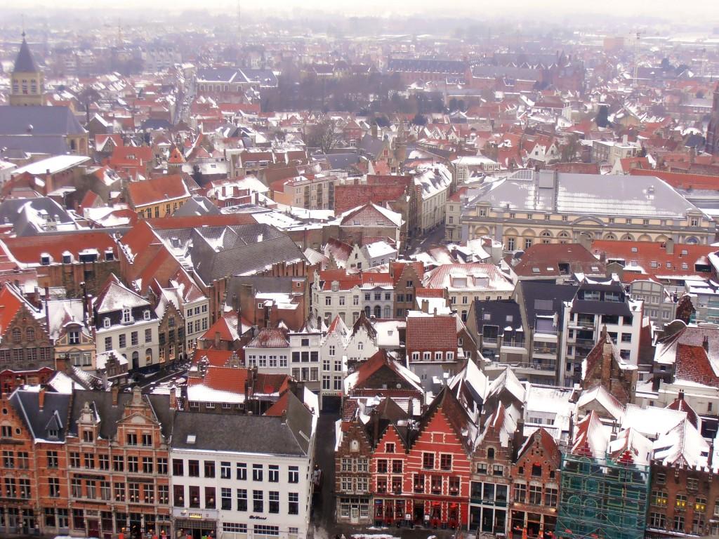 Vue du Beffroi à Bruges