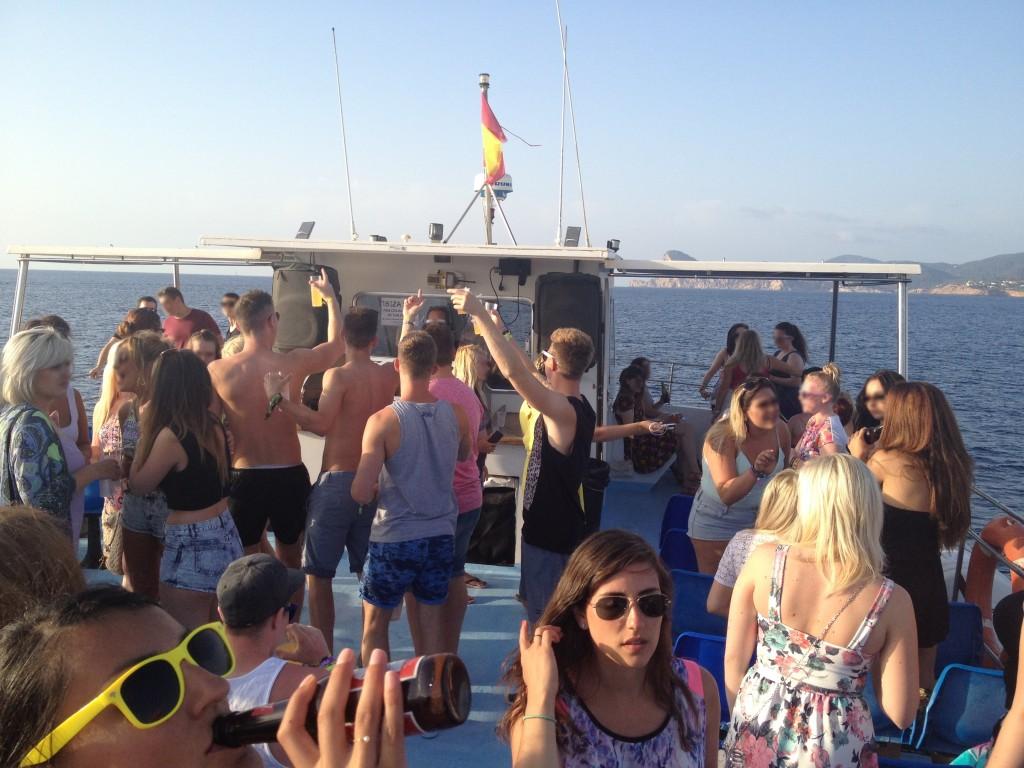 Ibiza Sunset boat