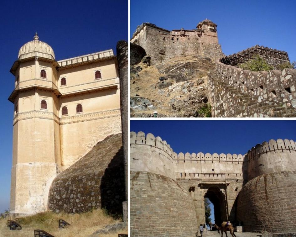 Inde forteresse de forteresse de kumbhalgarh
