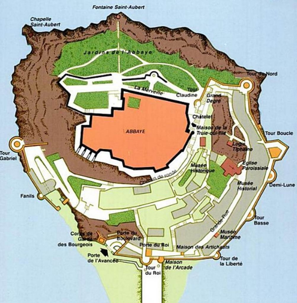 Plan du Mont Saint Michel