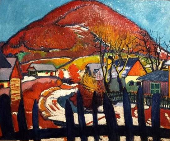 Sàndor Ziffer, Paysage d'hiver à la Brésarrière, 1910.