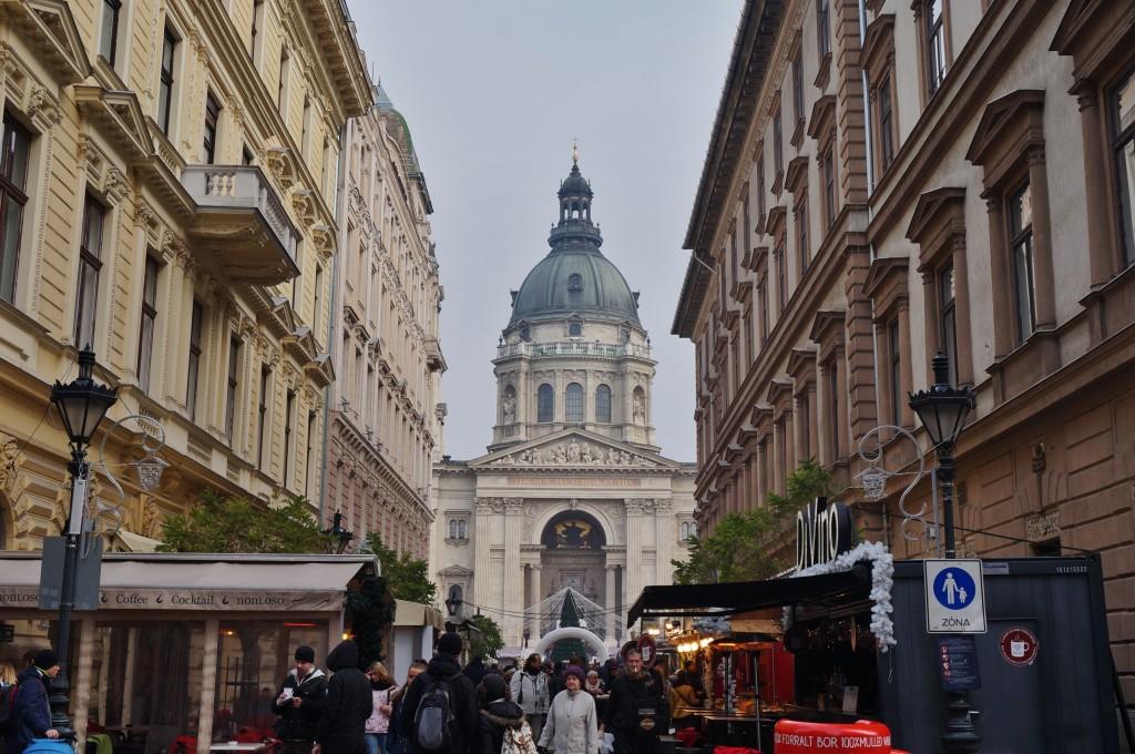 Vue dôme budapest basilique Saint Etienne