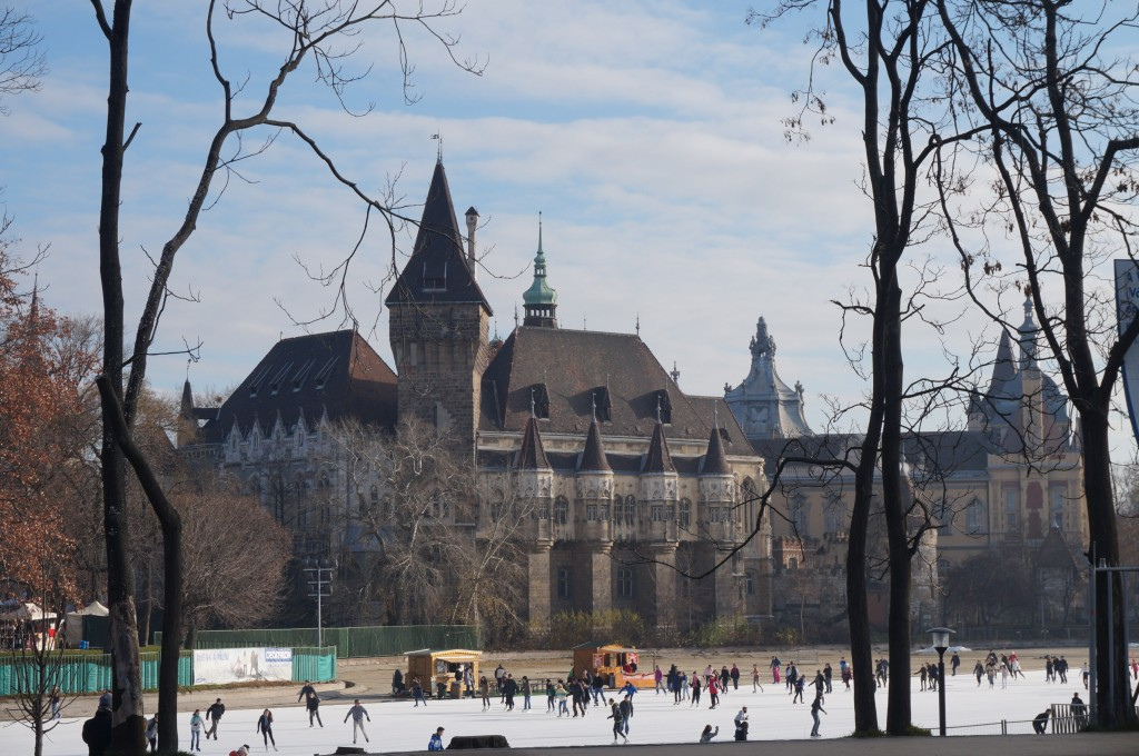 patinoire face chateau budapest