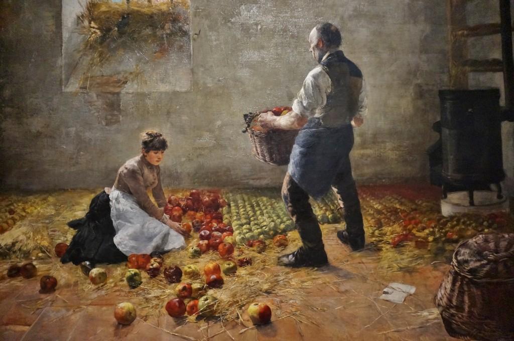 Karcsay, Lajos récolte de pommes budapest