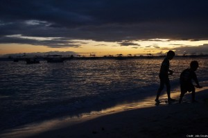 coucher de soleil panglao alona beach philippines