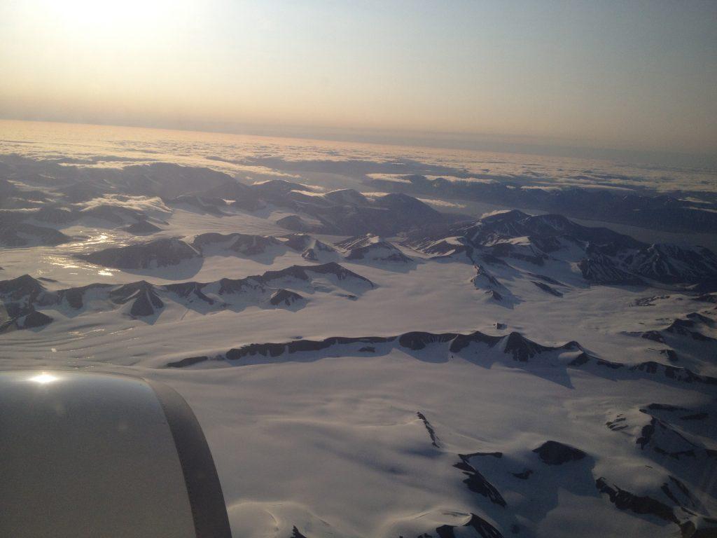 vue svalbard avion