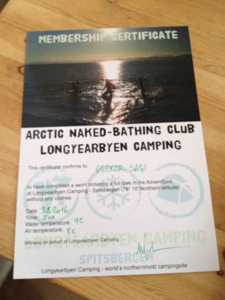 baignade camping longyearbyen svalbard