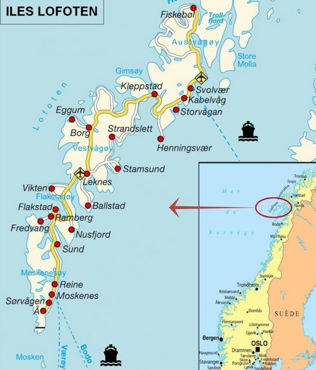 plan îles lofoten norvege