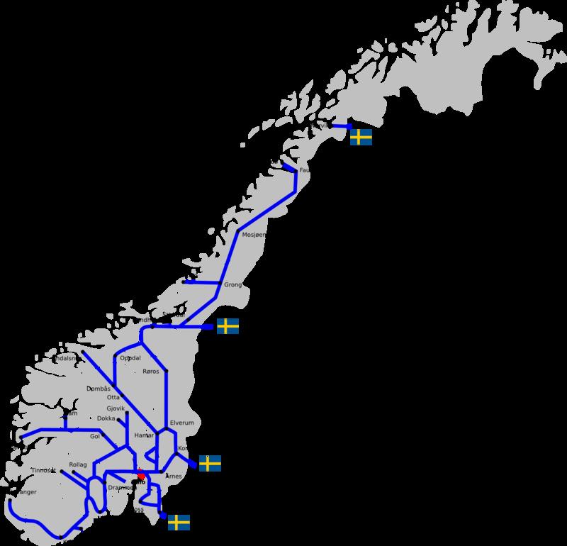 carte trains norvege