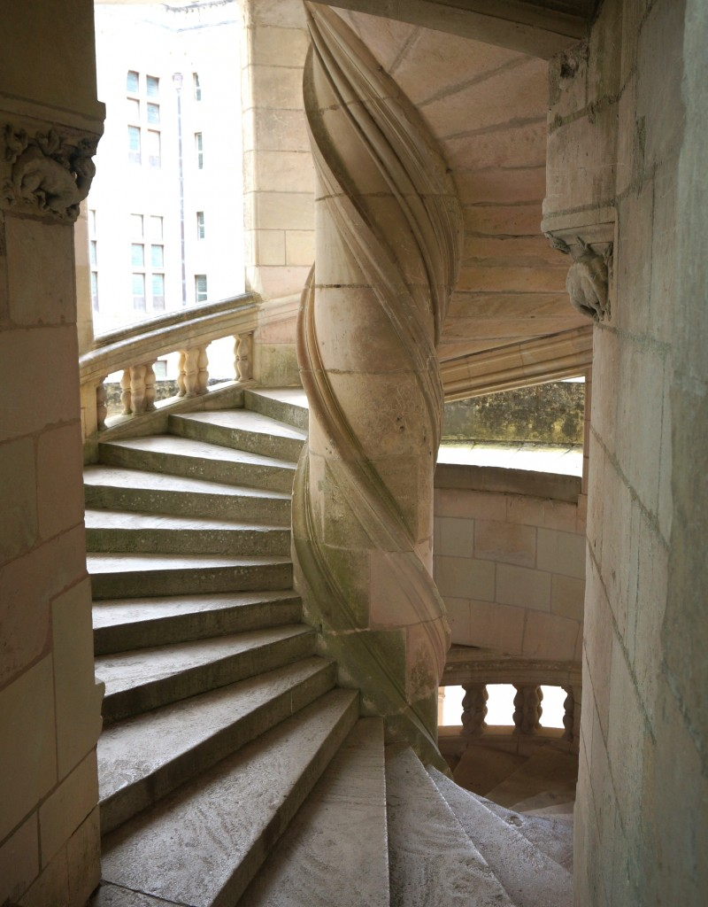 escaliers chateau de chambord