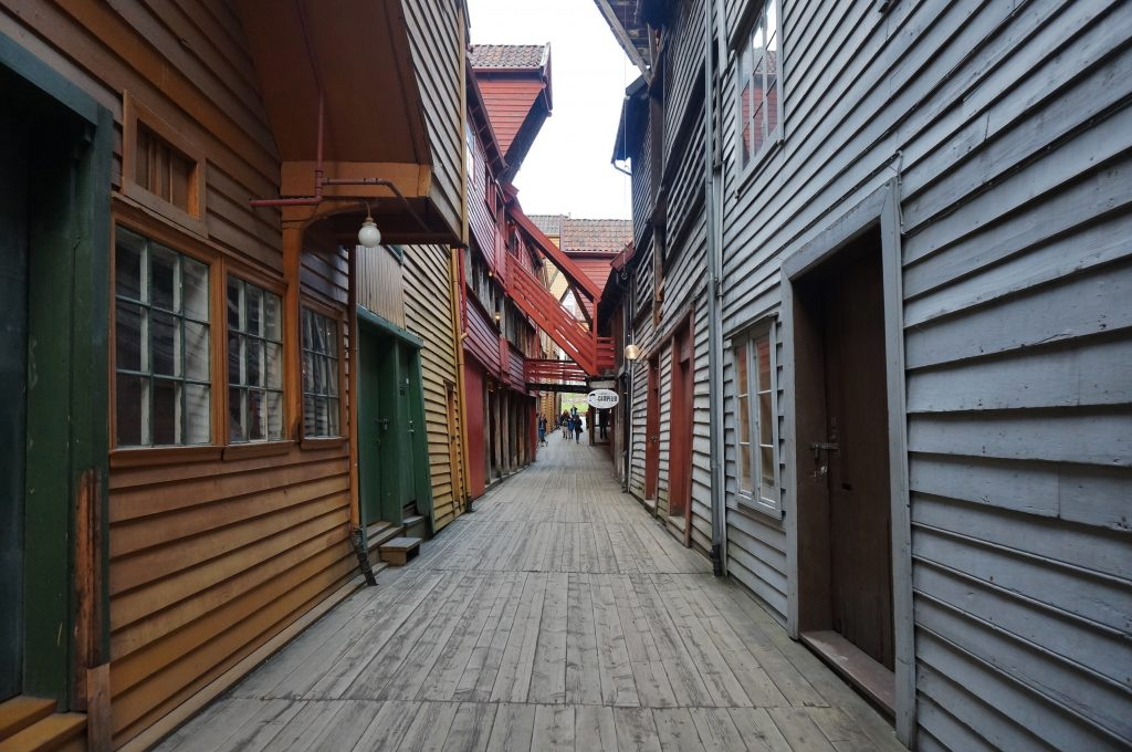 norvege bergen quai de Bryggen