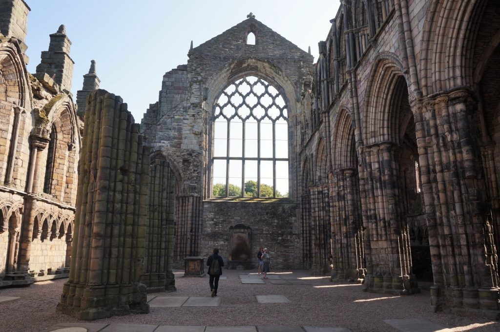ecosse edimbourg palais d'Hollyrood abbaye