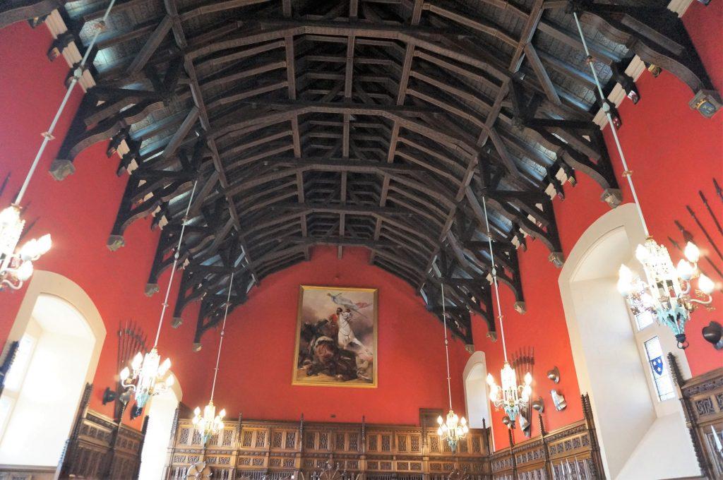 salle de banquet château ecosse edimbourg