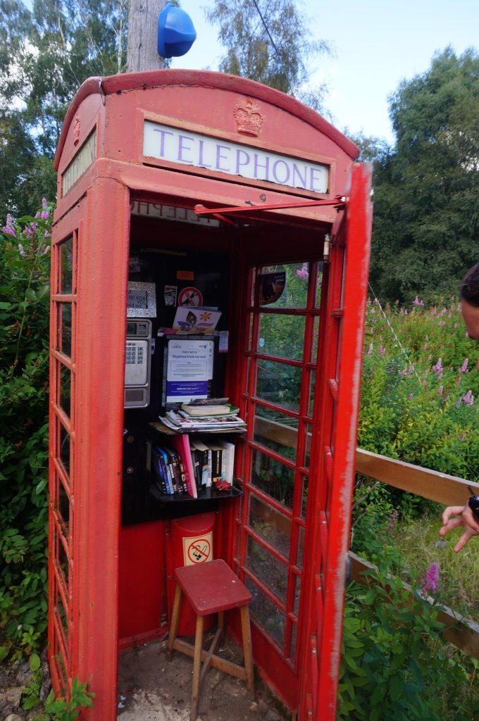 cabine téléphonique ecosse
