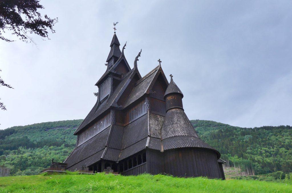 église en bois debout vik norvège