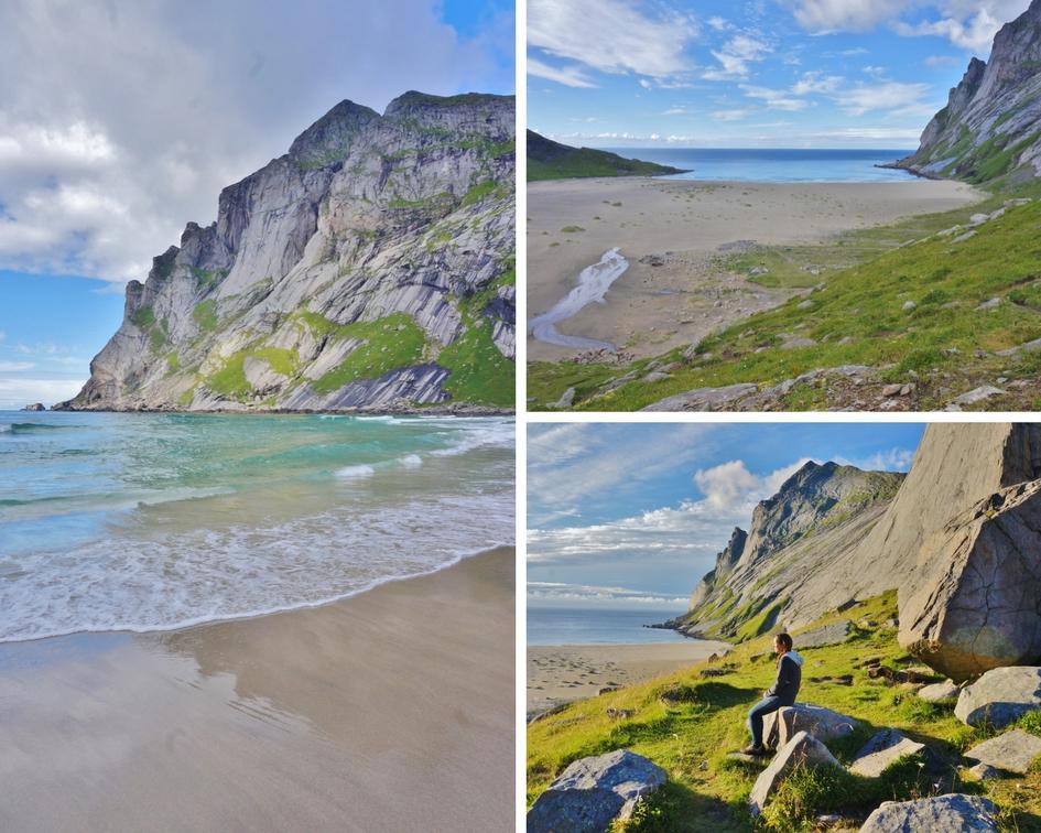 plage buneset îles lofoten norvège