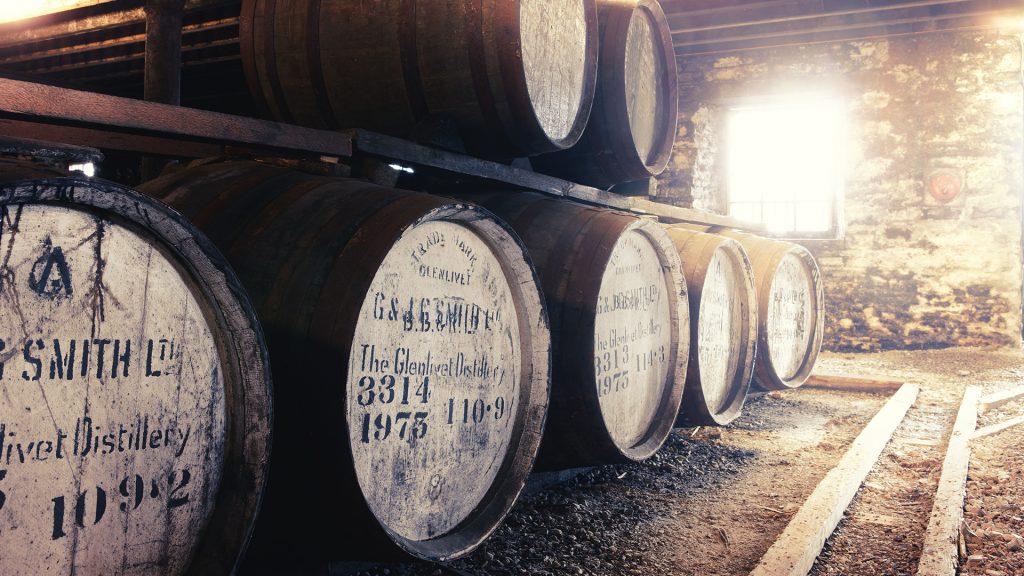 glenlivet distillerie de whisky fût de chêne ecosse