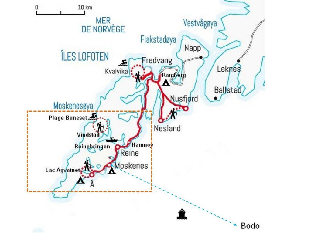 plan lofoten excursions norvege