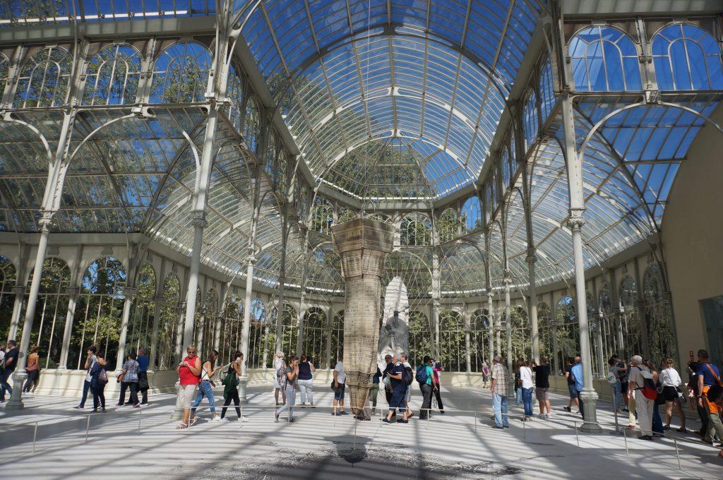 madrid espagne parque del retiro palacio de cristal