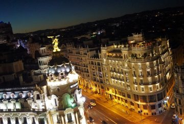 madrid roof top la nuit