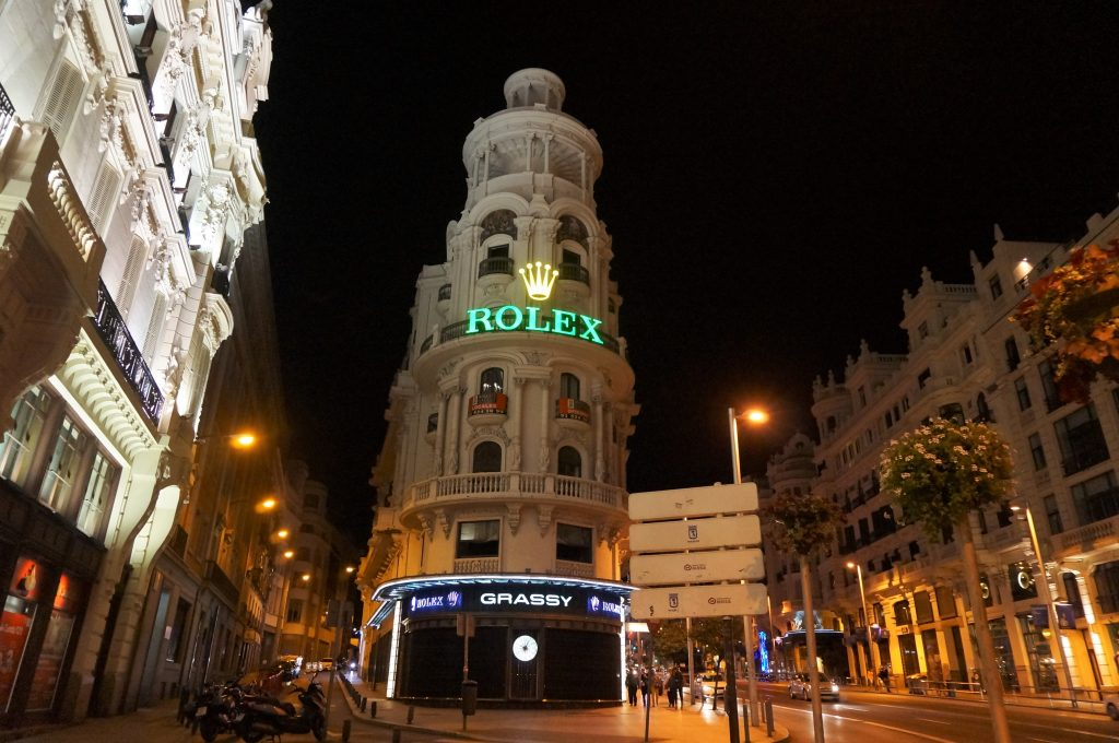 madrid espagne by night gran via