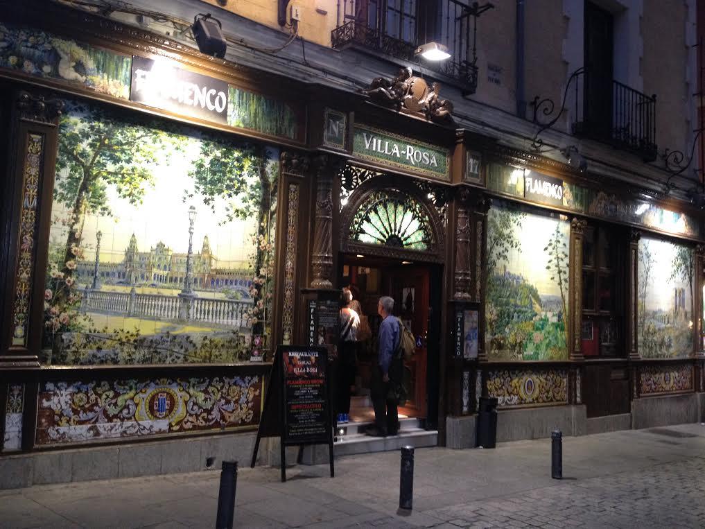restaurant madrid flamenco villa rosa
