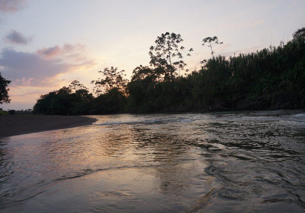 coucher de soleil tortuguero - costa rica - La pavona