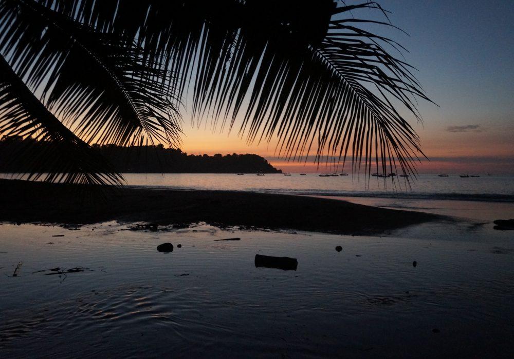 Coucher de soleil sur Bahia Drake - péninsule d'Osa - Corcovado - Costa Rica