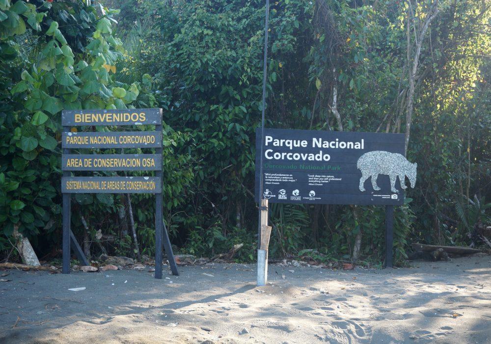 Entrée du parc national de Corcovado - Costa rica