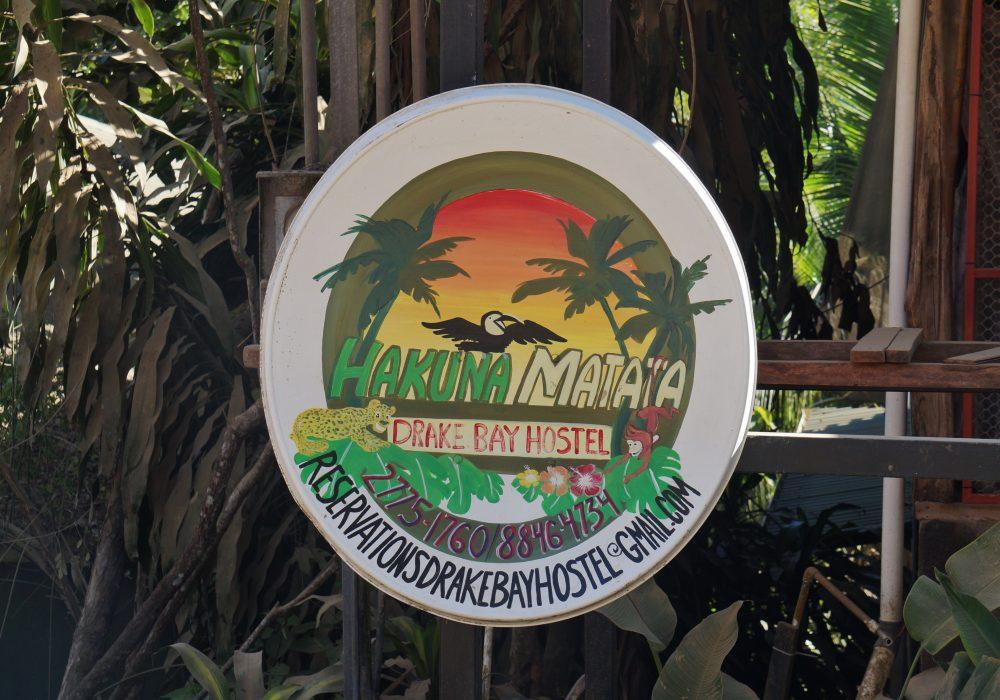 Panneau d'un restaurant - village Bahia Drake - Corcovado - Costa Rica