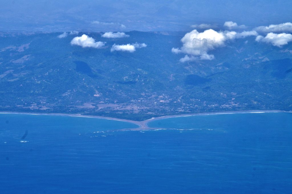 Vue du ciel - parc maritime ballena - Uvita bahia Costa rica