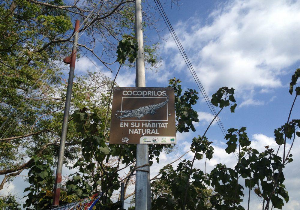 Panneau attention crocodiles - Pont des crocodiles -Tarcoles - Costa rica
