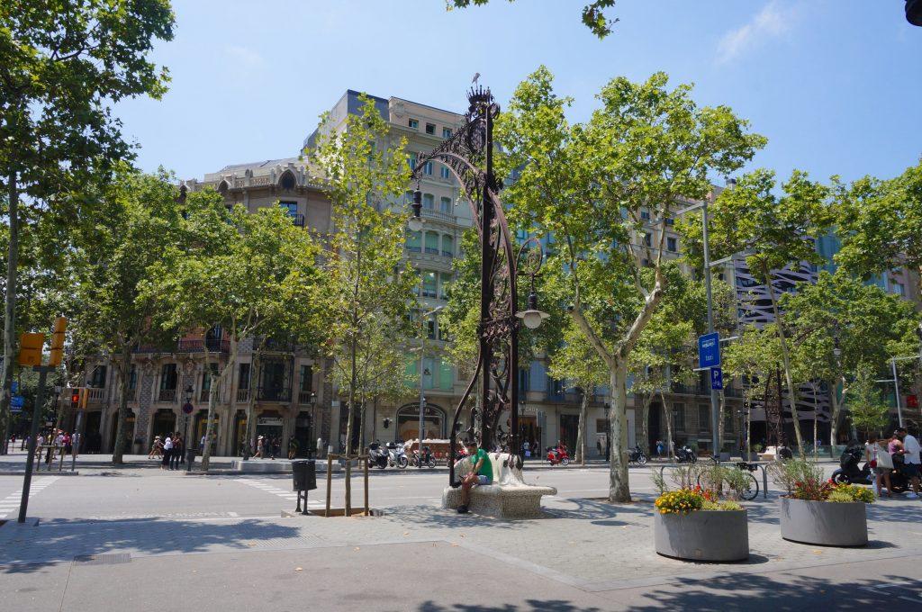 lampadaire de la rue Passeig de Gracia - Barcelone - Espagne