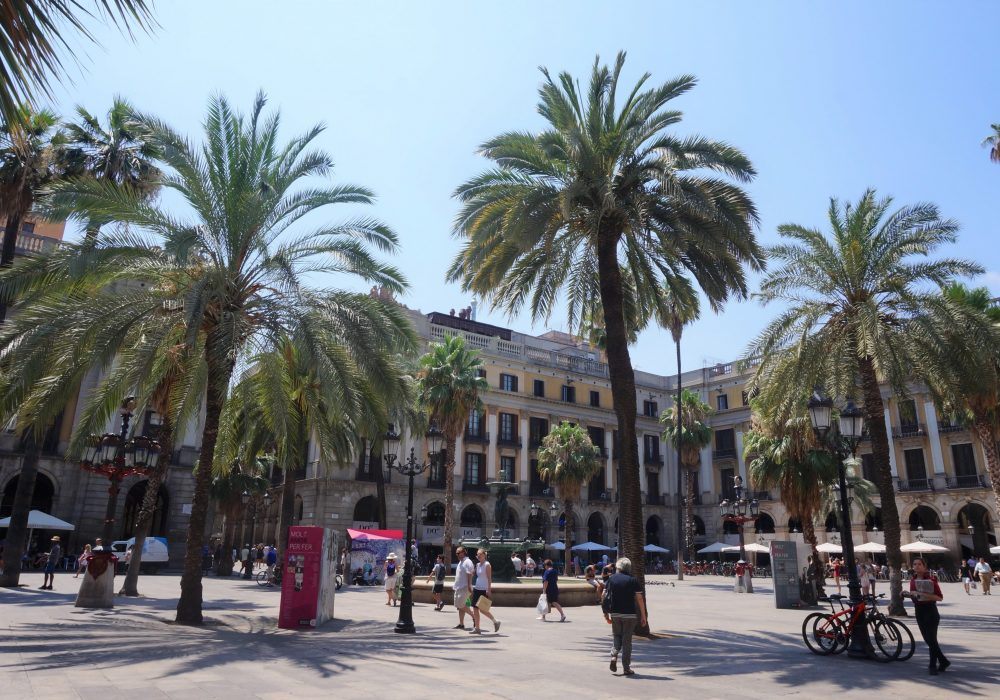 Plaça Real, Barcelone, Espagne