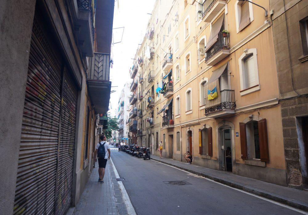 Rue de barceloneta, Barcelone, Espagne