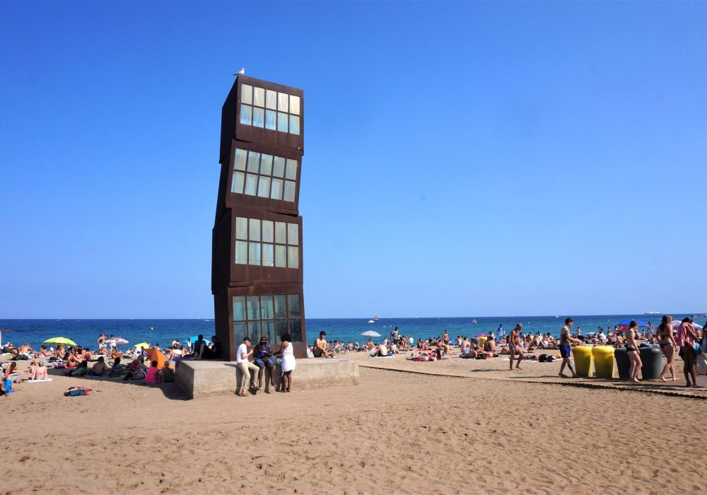 Sculpture L'Estel ferit, Barceloneta, Barcelone, Espagne