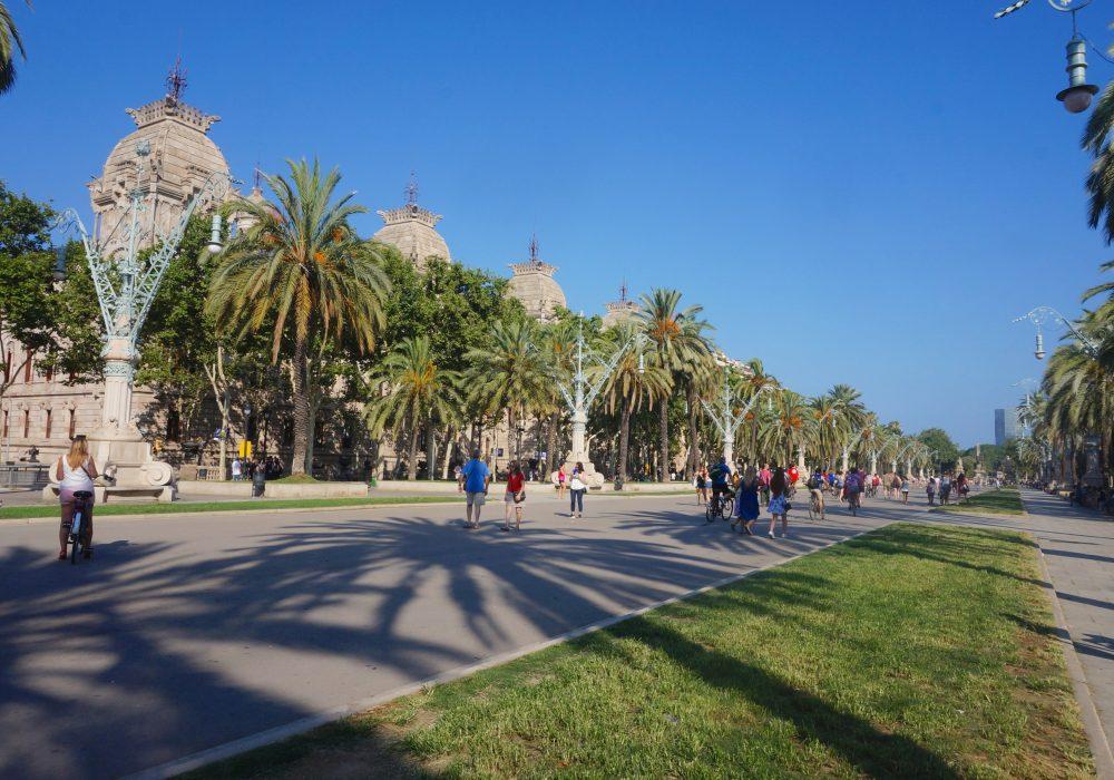 Passeig Lluís Companys, Arc de triomphe, Barcelone, Espagne