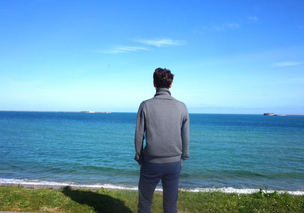 plage cherbourg normandie