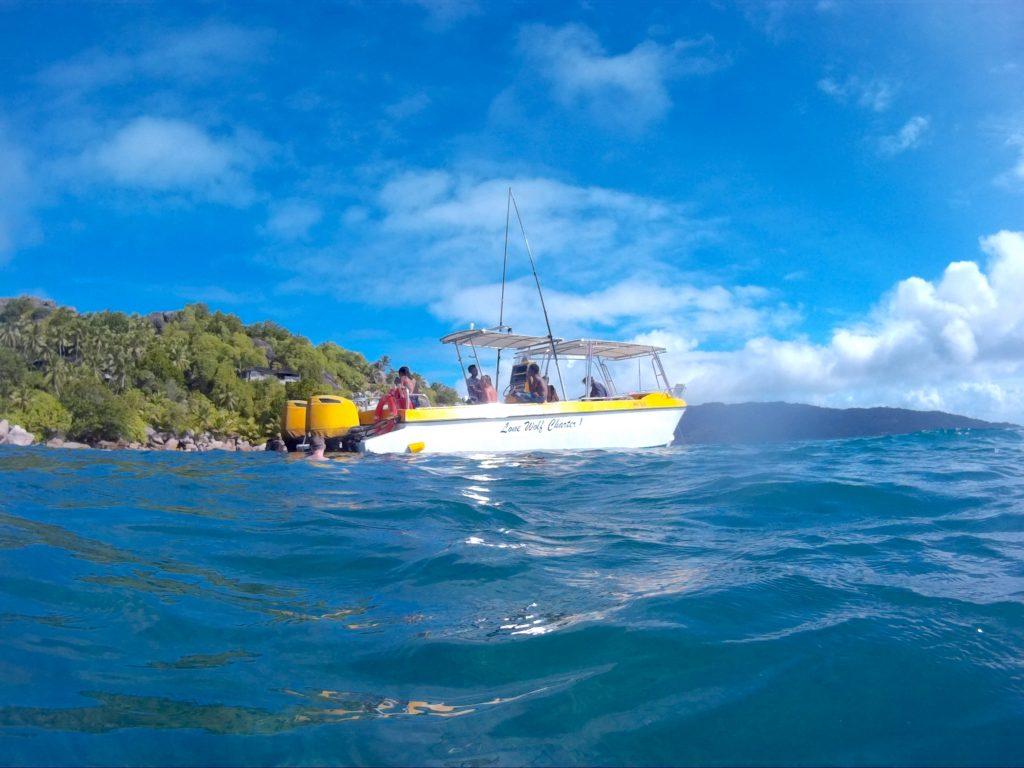 bateau, sortie snorkeling, la digue, seychelles